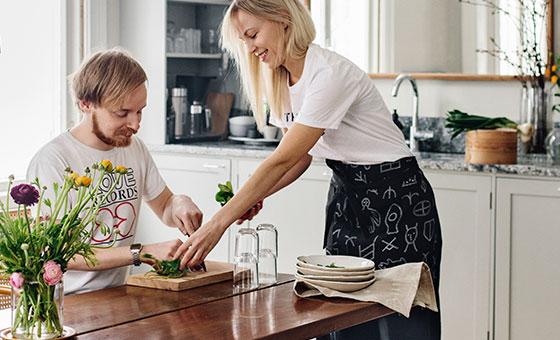 Saanan ja Ollin keittiössä